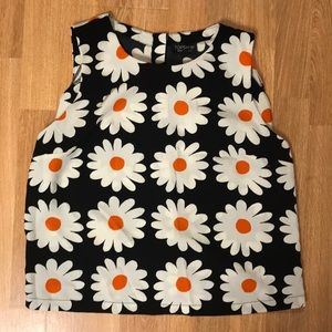 Flowered crop top size 8 (medium)